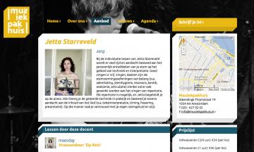 Muziekpakhuis , schermafbeelding van website